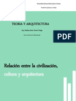 Relación entre civilización, cultura y arquitectura.