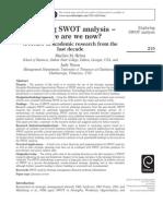 Exploring SWOT Analysis LIT.reviEW