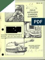 FM 640 1984 OBSOLETE Field Artillery Cannon Gunnery
