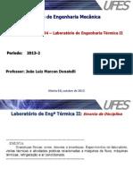 LabEngTérmica II (Apresentaç_o & Planejamento 2013-2)
