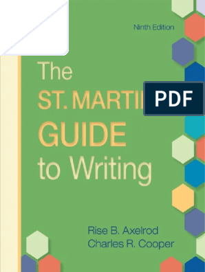 The St  Martin's Guide to Writing, Ninth Edition | Genre | Essays