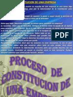 LA CONSTITUCION DE LA EMPRESA