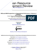 HRD and HRM Perspectives on Organizational Performance_A Review of Literature_2013