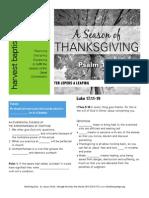 Thanksgiving 3 Luke 17-11-19 Handout 111614