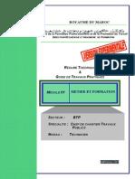 M01 Metier Et Formation BTP TCCTP