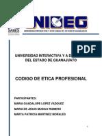 Codigo Etico de Los Ingenieros Industriales en La Universidad Del SABES.