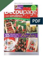 Revista-Decoupage Con Servilletas-15 Proyectos Para Las Fiestas-2008
