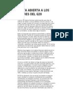 Carta Abierta al G20