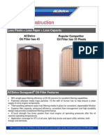 Oil Filter Construction and Oil Filter Failure Examples