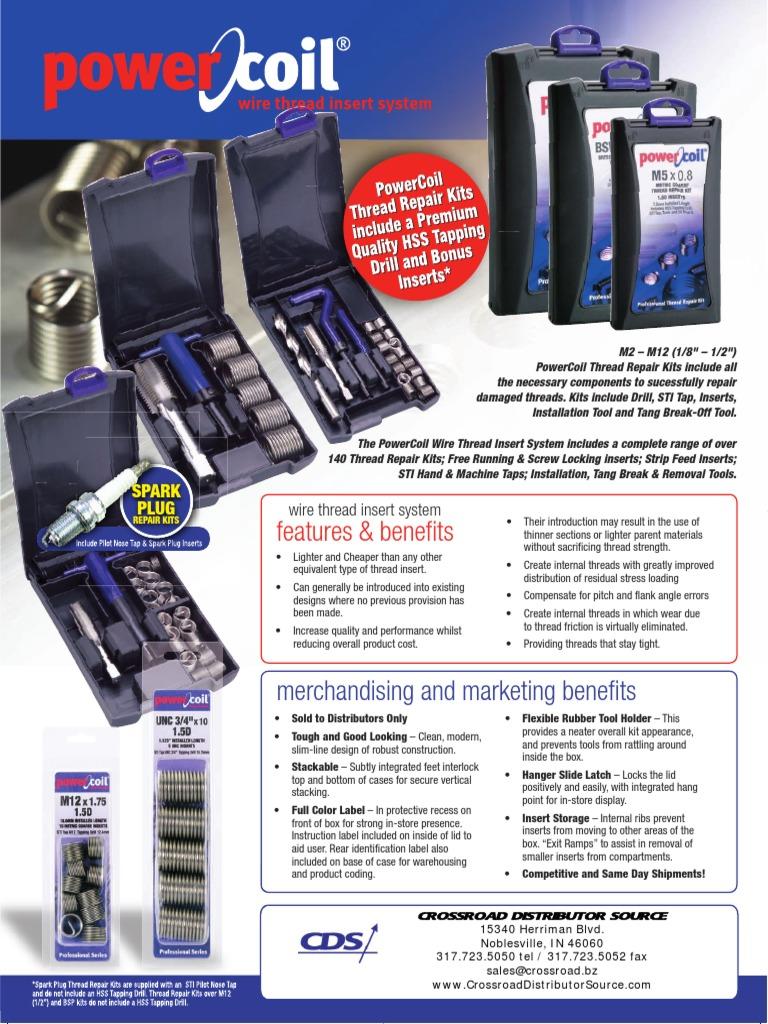 PowerCoil 3522-12.00K M12 x 1.25 S//Plug Repair Kit
