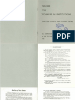 Course for Workers in Institutions