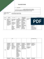 Plan de acción Español- Ingles 1 periodo  grado 4ª 2014