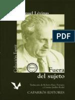 Lévinas, Emmanuel_Fuera Del Sujeto