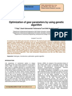 Optimization of Gear Parameters by Using Genetic Algorithm