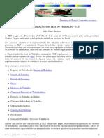 A Consolidação Das Leis Do Trabalho - CLT