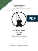 Formulario de Inscripcion...ARPA