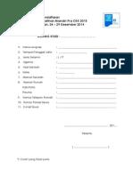 Formulir Pendaftaran Pelatihan Pra Osk 2015