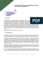 Determinacion Fuerza Laboral Optima Mantenimiento Rutinario Molienda y Compactacion