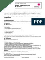 Bladder Management Intrapartum and Postpartum