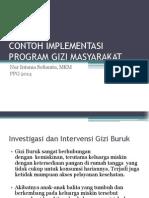 Contoh Implementasi Program Gizi Masyarakat