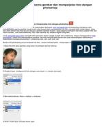 cara mempertajam warna gambar dan memperjelas foto dengan photoshop.pdf
