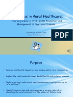 disparities in rural healthcare-nursing  oral health