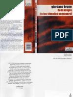 Bruno, Giordano - De La Magia - De Los Vínculos en General