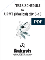 AIATS Schedule Medical 2016