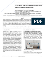 Impact of Physicochemical Characteristics of Water on Coefficient of Pipe Friction