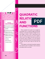 Quadratic Relation and Functions