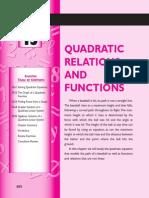 Quadratic Relation and Functions