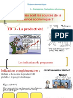 TD 3 La productivité (version corrigée)2014-2015.ppt