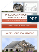preliminary house plans analysis ppt