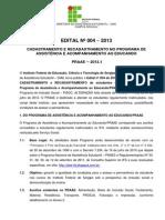 4. Edital Nº 004 - 2013 Praae- Campus Aracaju