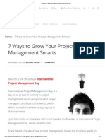 7 Ways to Grow Your Project Management Smarts