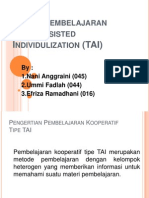 Model Pembelajaran TAI