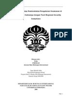 Tantangan Terhadap Pembentukan Pengaturan Keamanan Di Asia Timur, Dan Kaitannya Dengan Teori Regional Security Complexes