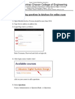 Steps for Add Questions in Database for Moodle Online Exam