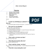 After Action Report Project Planning2