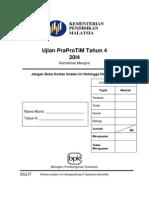 Ujian PraProTiM Tahun 4 (2014) Panduan