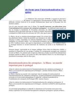Internationnalisation Des Entreprises