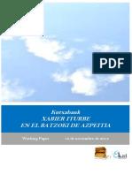 Kutxabank. XABIER ITURBE EN EL BATZOKI DE AZPEITIA