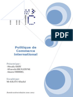Commerce Internatinal (Rapport)