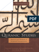 Wanbrough, Quranic Studies Sources and Methods of Scriptural Interpretation