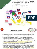 Masyakat Ekonomi Asean (Mea) 2015