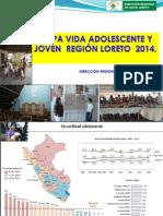 Tendencia Embarazo Adolescente Región Loreto - 2013 Endes