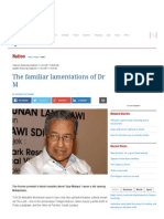 The Familiar Lamentations of Dr M - Nation _ the Star Online
