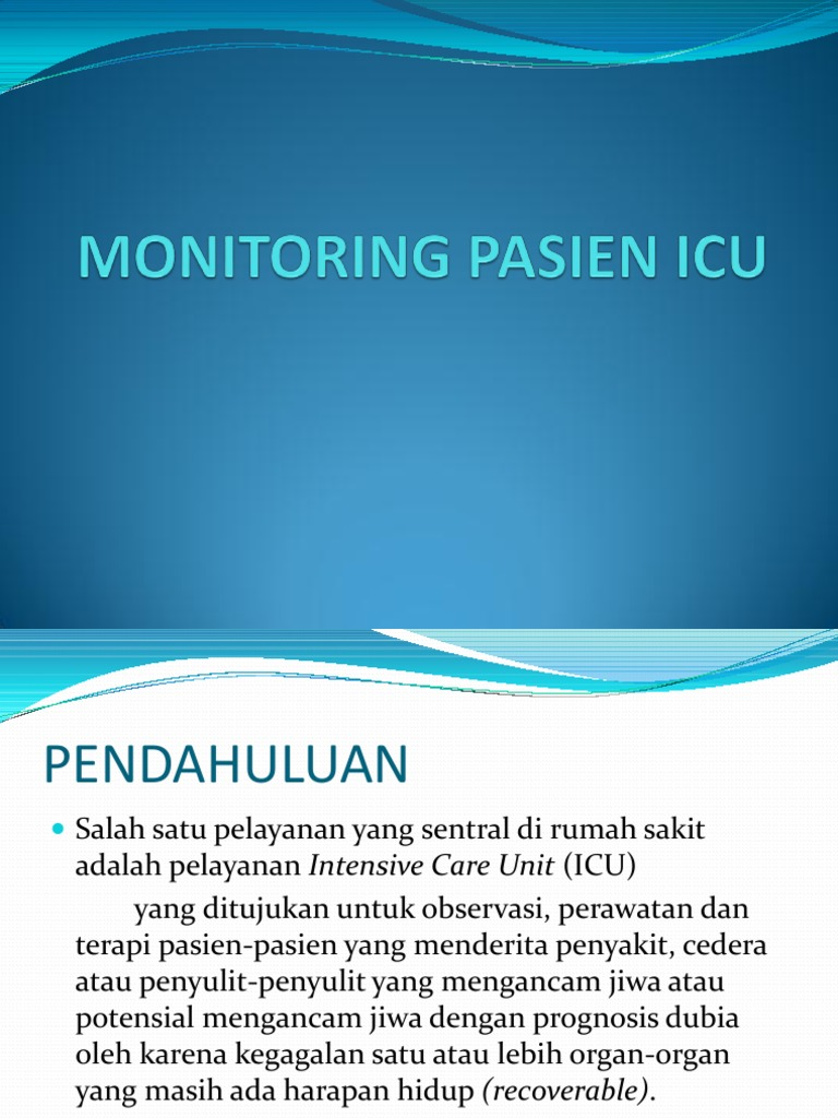 MONITORING PASIEN ICU ppt