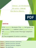 Sentence Structure Constituents