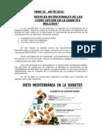 Las Tapas y La Diabetes Mellitus
